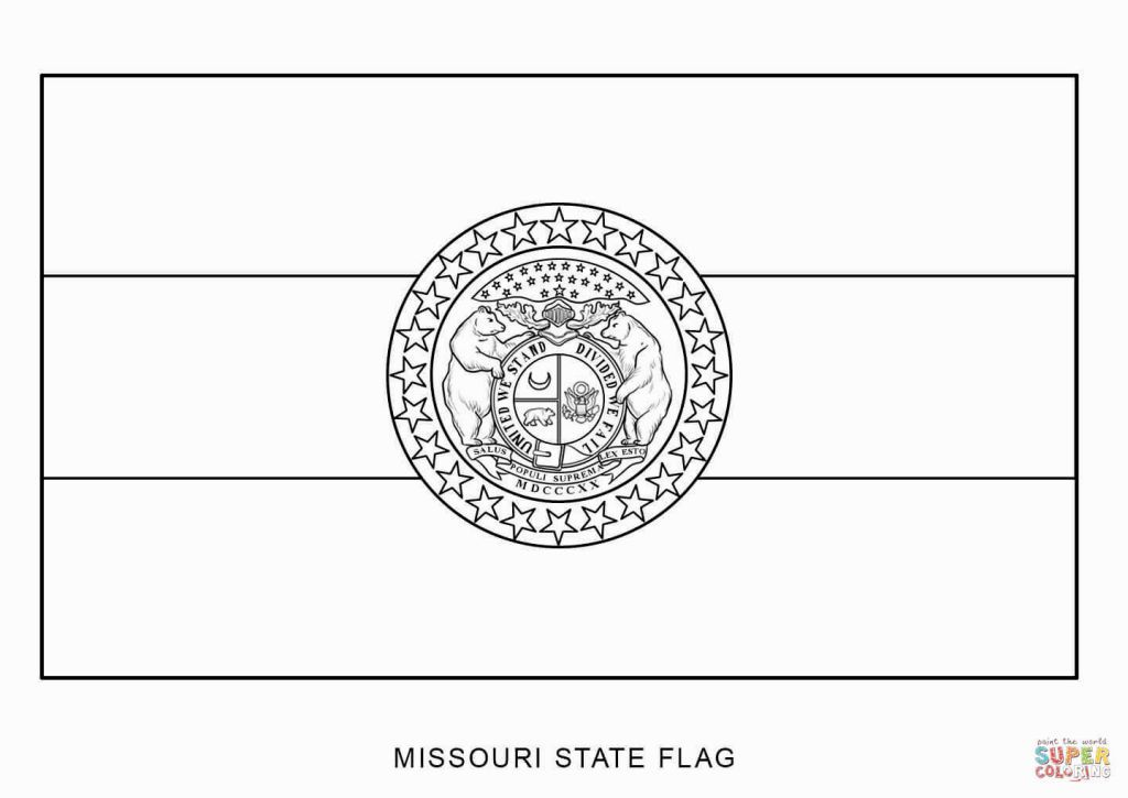 Missouri State Flag Coloring Page | Coloring Pages | Pinterest
