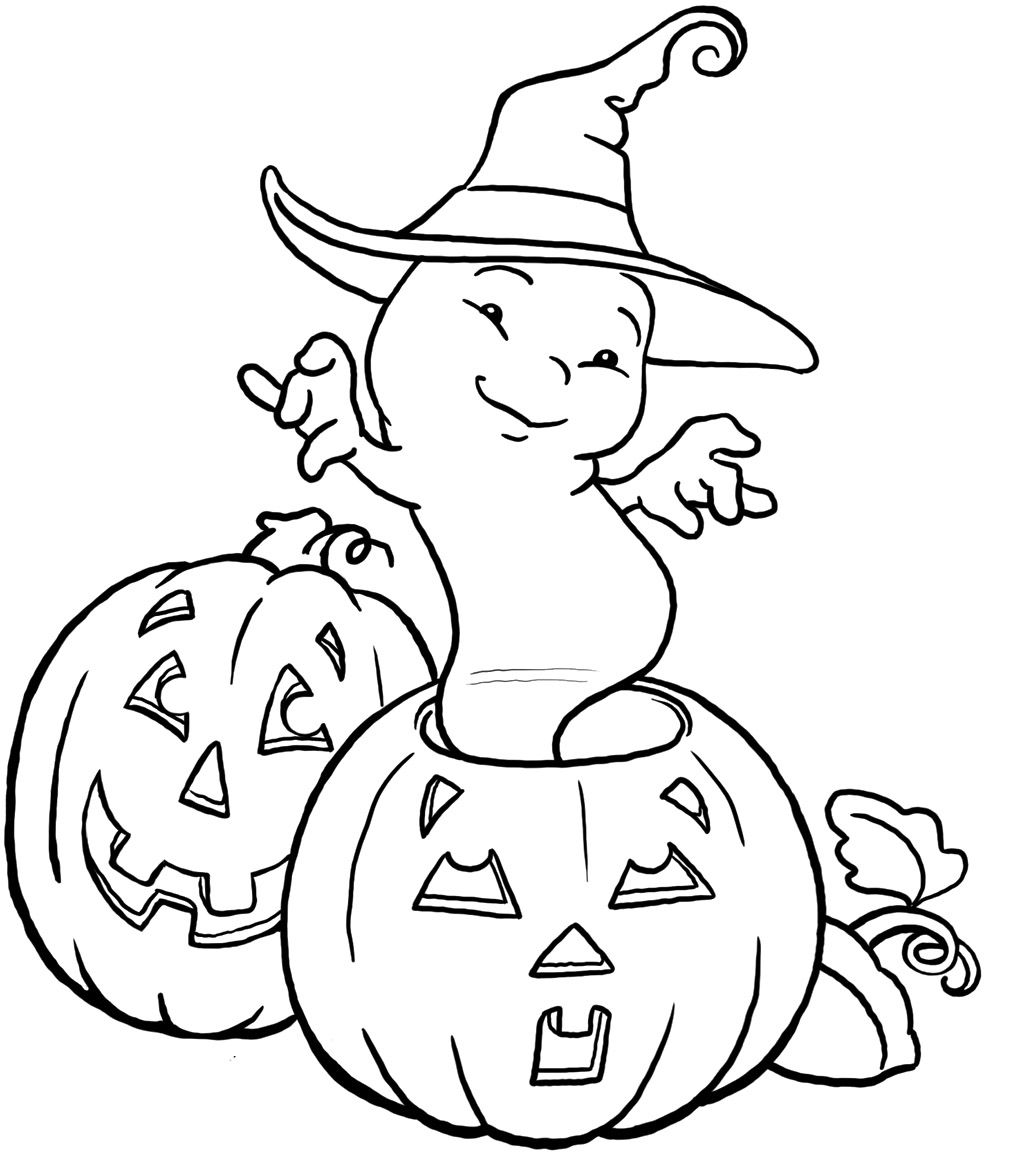 Ghost And Jack O Lanterns Halloween Coloring Sheets Halloween Coloring Pages Halloween Coloring Book