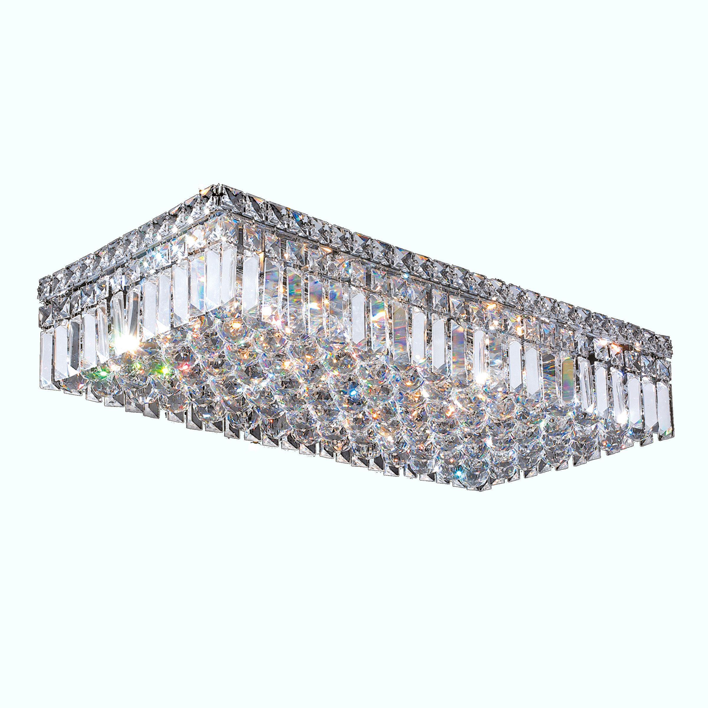 Flush Mount Lights Ceiling Lights Crystals Polished Chrome