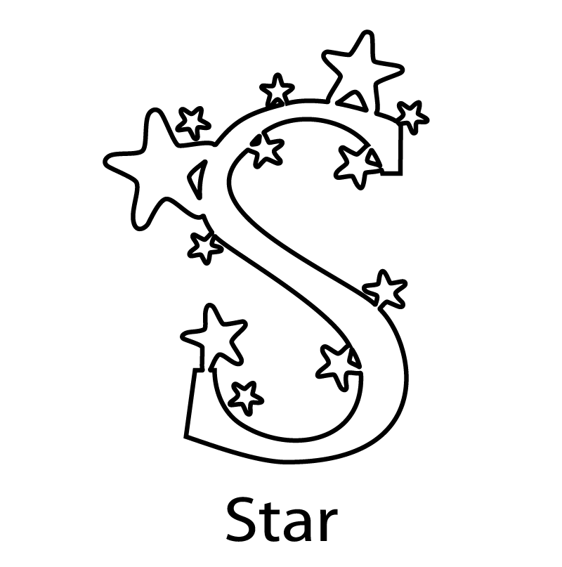 Star Coloring Pages : Mandala Coloring Pages Stars. Stars Alphabet ...