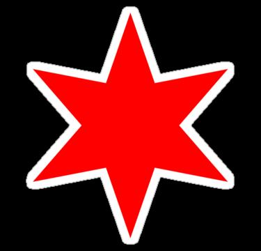 Chicago Flag Single Star Glossy Sticker By Chicago Tee Chicago Flag Art Chicago Flag Coloring Stickers