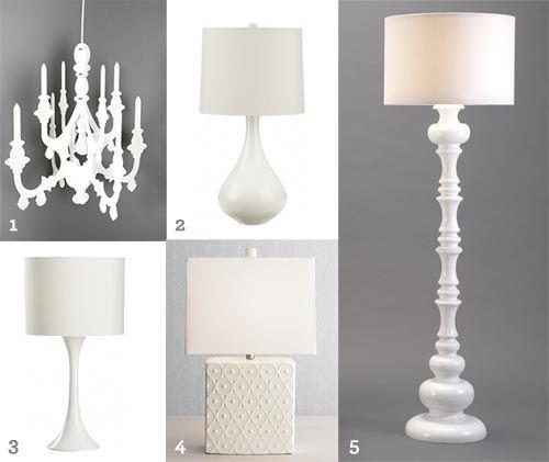 Lovely White Lamps