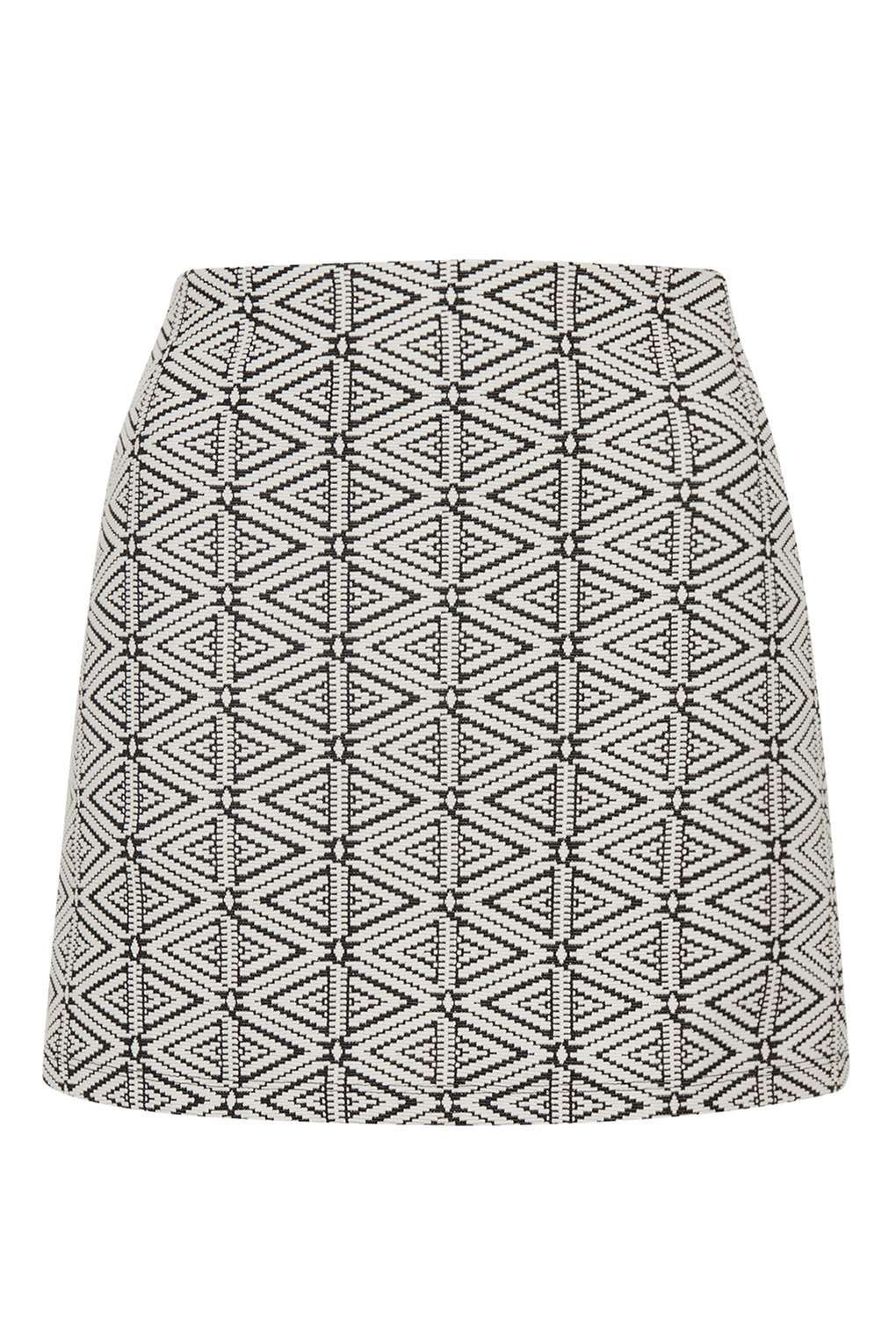 Topshop Womens Triangle Jacquard A-Line Skirt - 100% Guaranteed For Sale Latest Collections Latest Collections Cheap Price hZA4y