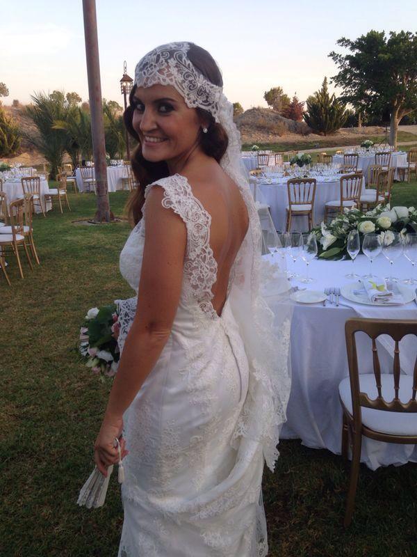 raquel alemañ novias ,vestido sirena en alicante , diseño a medida