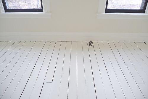 White Painted Floor Back Room White Painted Floors Painted