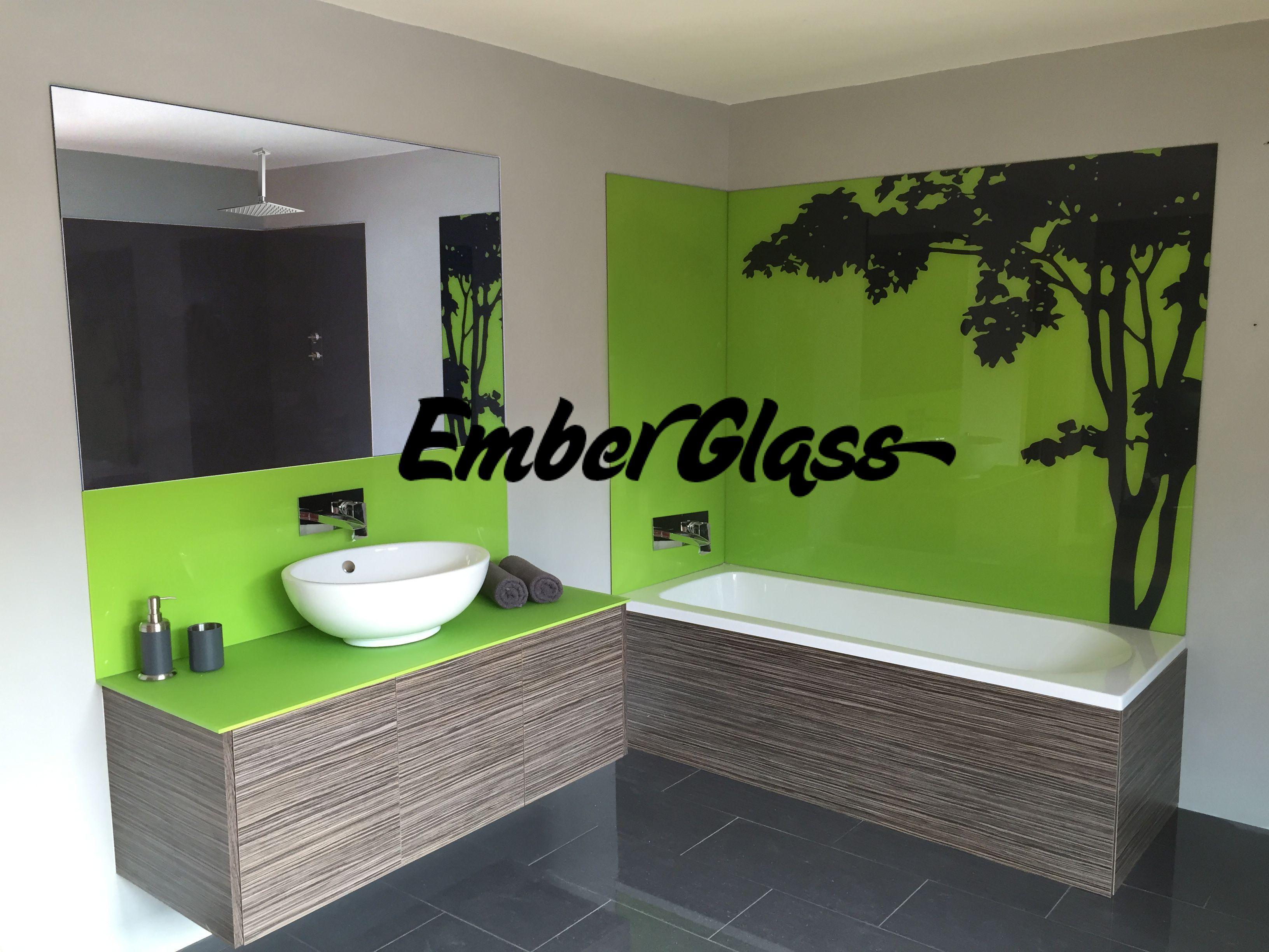 Bathroom sink splashback ideas - Glass Splashback Glass Bathroom Wet Room Ember Glass Create Beautiful Glass Bathrooms