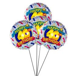 Happy 40th Birthday Balloon Delivery UK