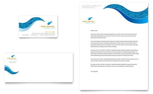 Swimming pool cleaning service business card letterhead swimming pool cleaning service business card letterhead microsoft office template fbccfo Gallery