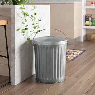 Houston International Enameled Galvanized Steel Recycling Bin Wayfair In 2020 Recycle Trash Recycling Bins Recycling Containers
