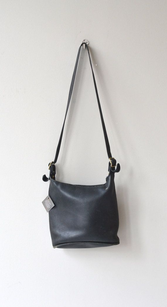0e3ffd46a Coach Bucket bag | vintage large Coach leather bag | black leather ...