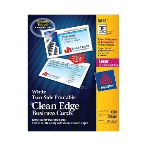 Avery two side printable clean edge business cards for laser avery two side printable clean edge business cards for laser printers white box of 1000 5874 colourmoves