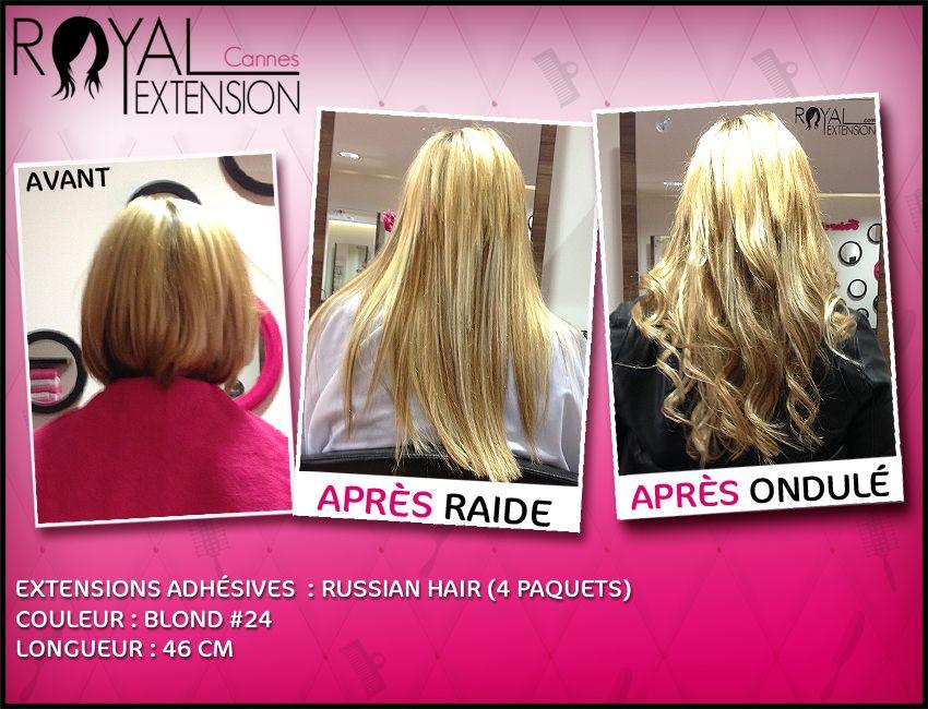 extensions de cheveux bandes adh sives en cheveux russes passez d 39 un carr court une. Black Bedroom Furniture Sets. Home Design Ideas