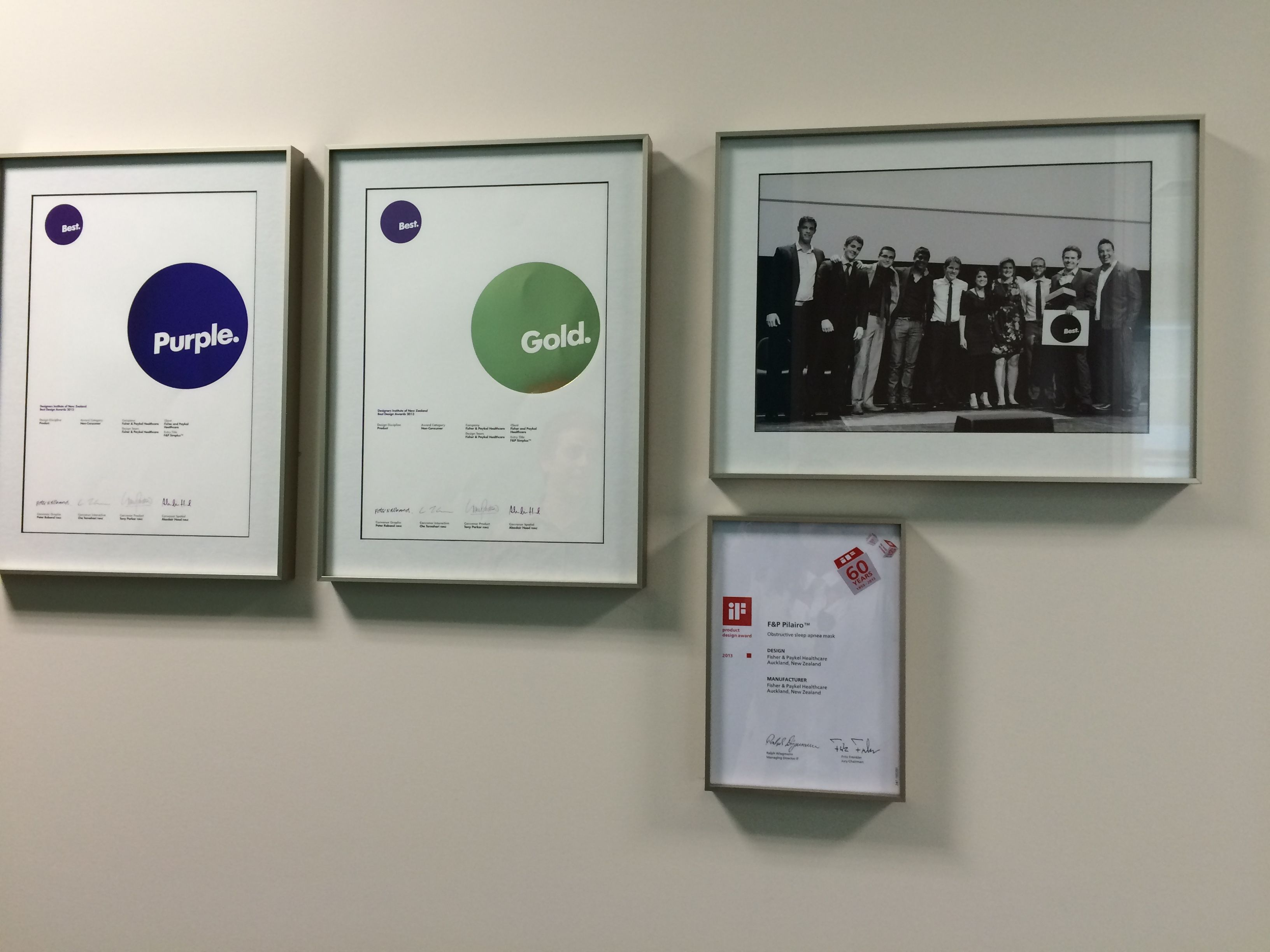 Best Design Awards certificates on display | Show us where your Pins ...