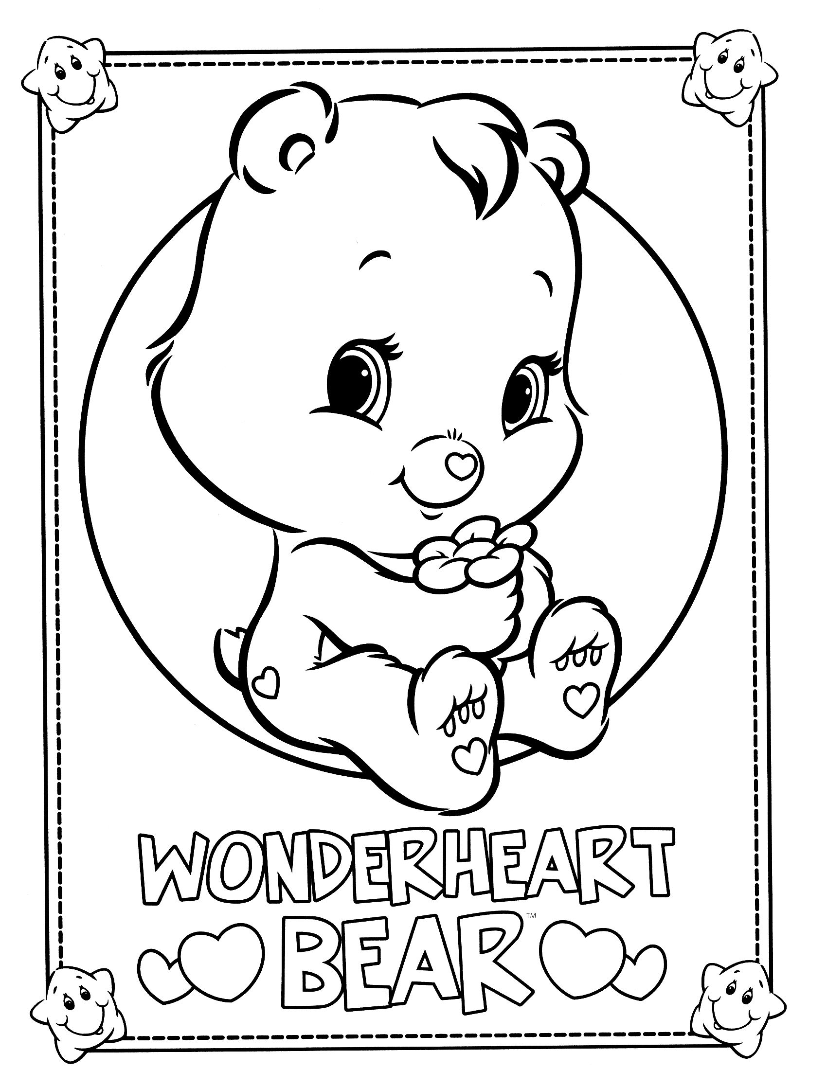 Care Bears Coloring Page Bear Coloring Pages Unicorn Coloring Pages Hello Kitty Colouring Pages