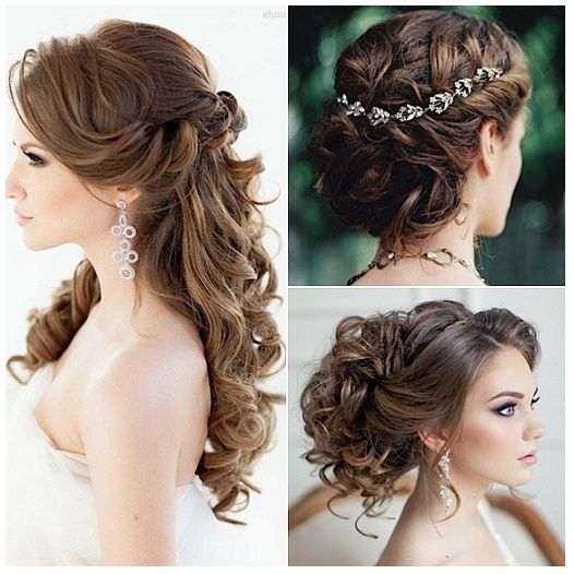 Peinados De Novia Para Matrimonio Civil Largo Hair Styles Wavy Wedding Hair Hair Pieces