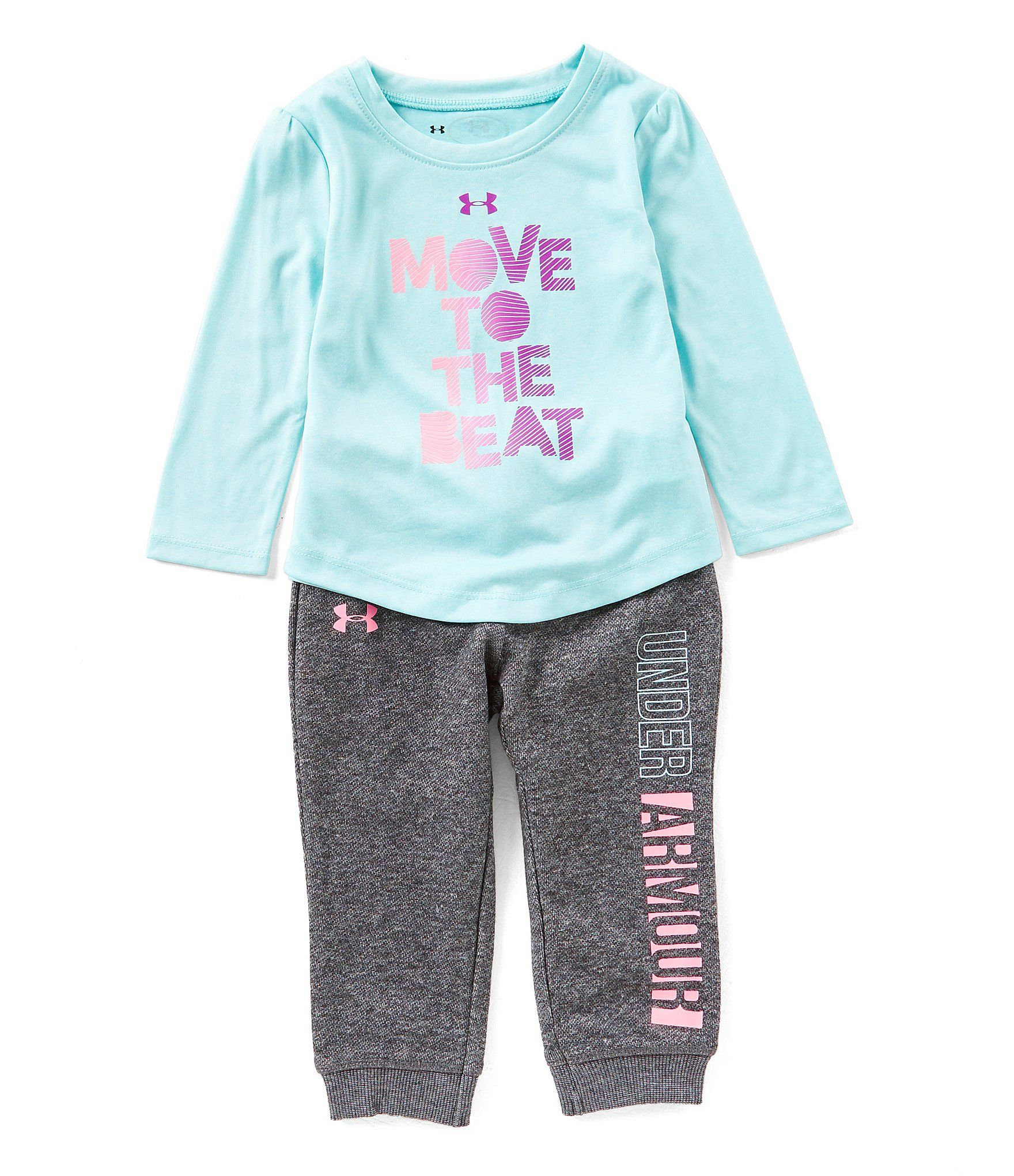 Under Armour Baby Girls 12 24 Months Move To The Beat Long Sleeve
