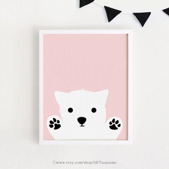 Printable Pink Dog Art Poster Bebe Instant Download Girls Room Etsy In 2021 Printable Nursery Art Nursery Wall Art Printable Dog Nursery Art