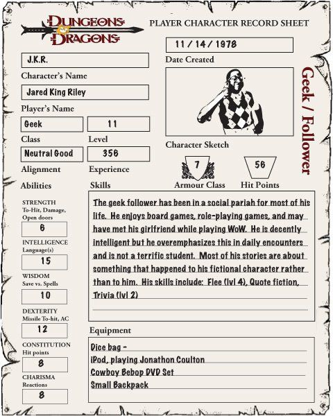 dungeons and dragons character sheet As a continuation of the previous post, the second addition to the download section of the website is a character sheet i created in conjunction with the work i did on the random dungeon generation tables and the.