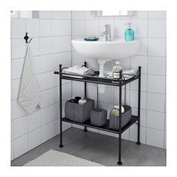 RÖNNSKÄR Wash Basin Shelf, Black       IKEA