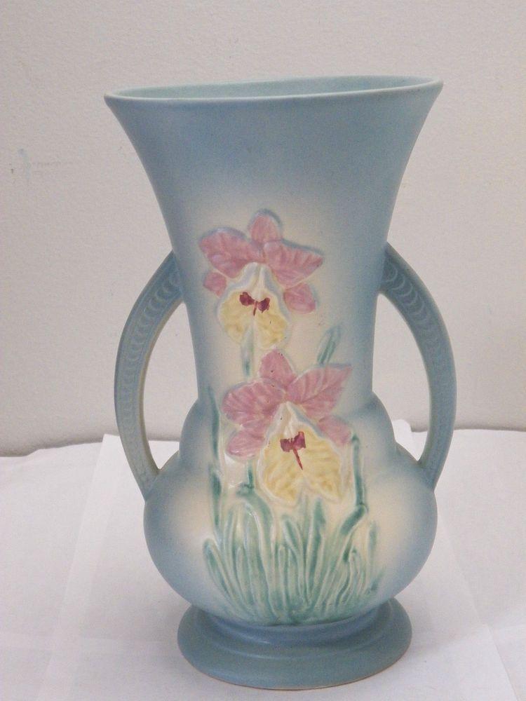 Vintage Hull Usa 301 Shape Art Pottery Double Handled Vase 105