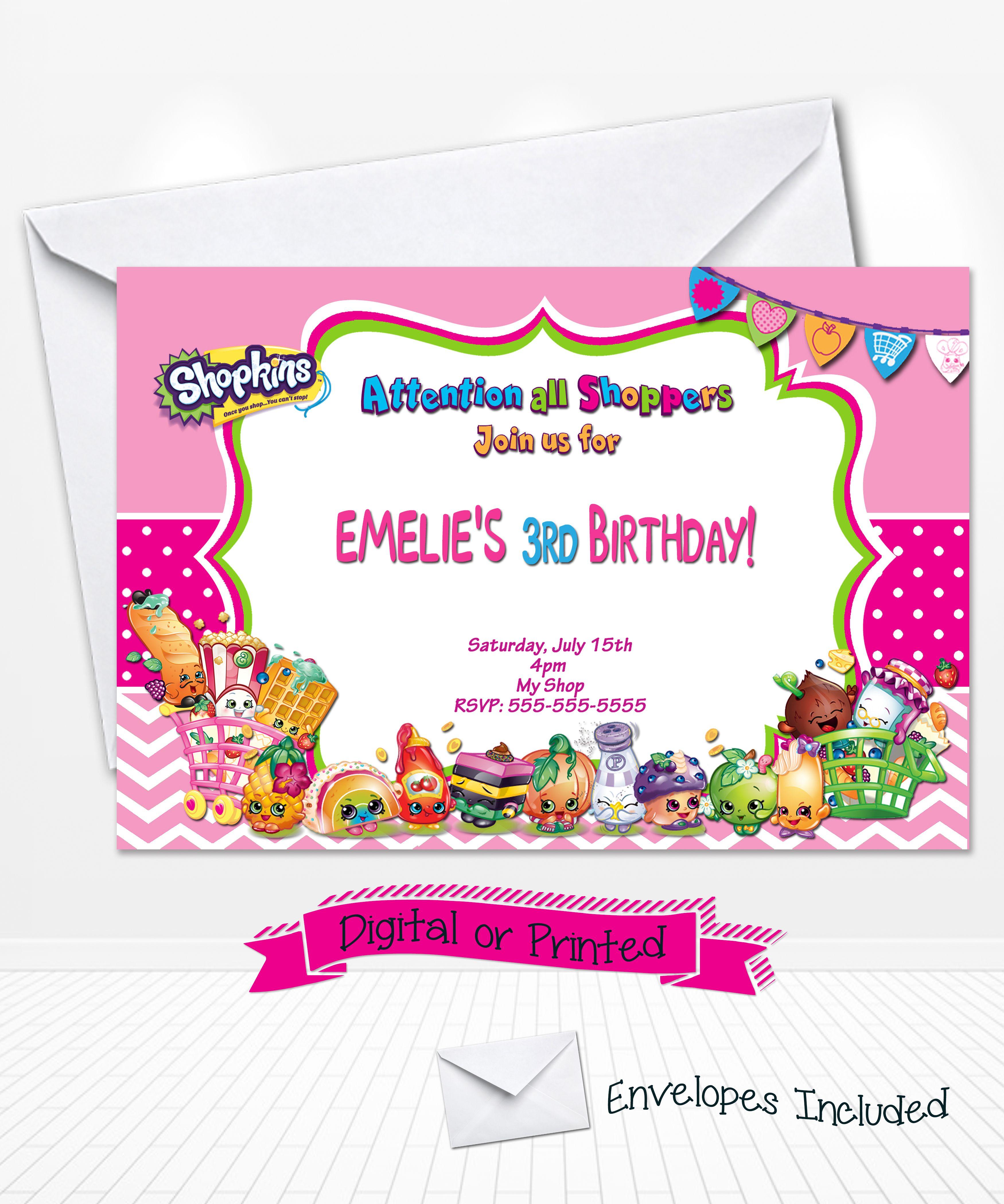 shopkins birthday party invitations – Invitations for Birthdays