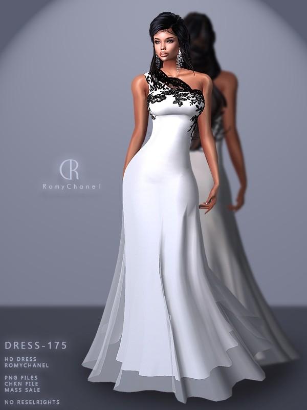 Rc Dress 175 Sims 4 Wedding Dress Dresses Sims 4 Dresses