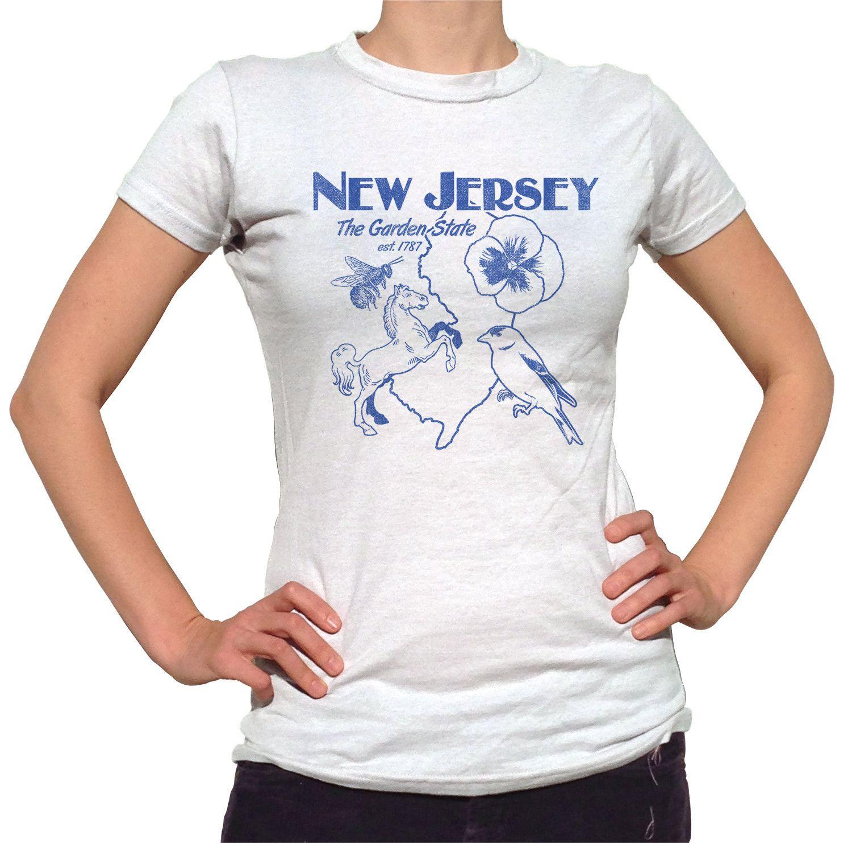 Women s New Jersey T-Shirt - Juniors Fit Retro Garden State cb38cad3a