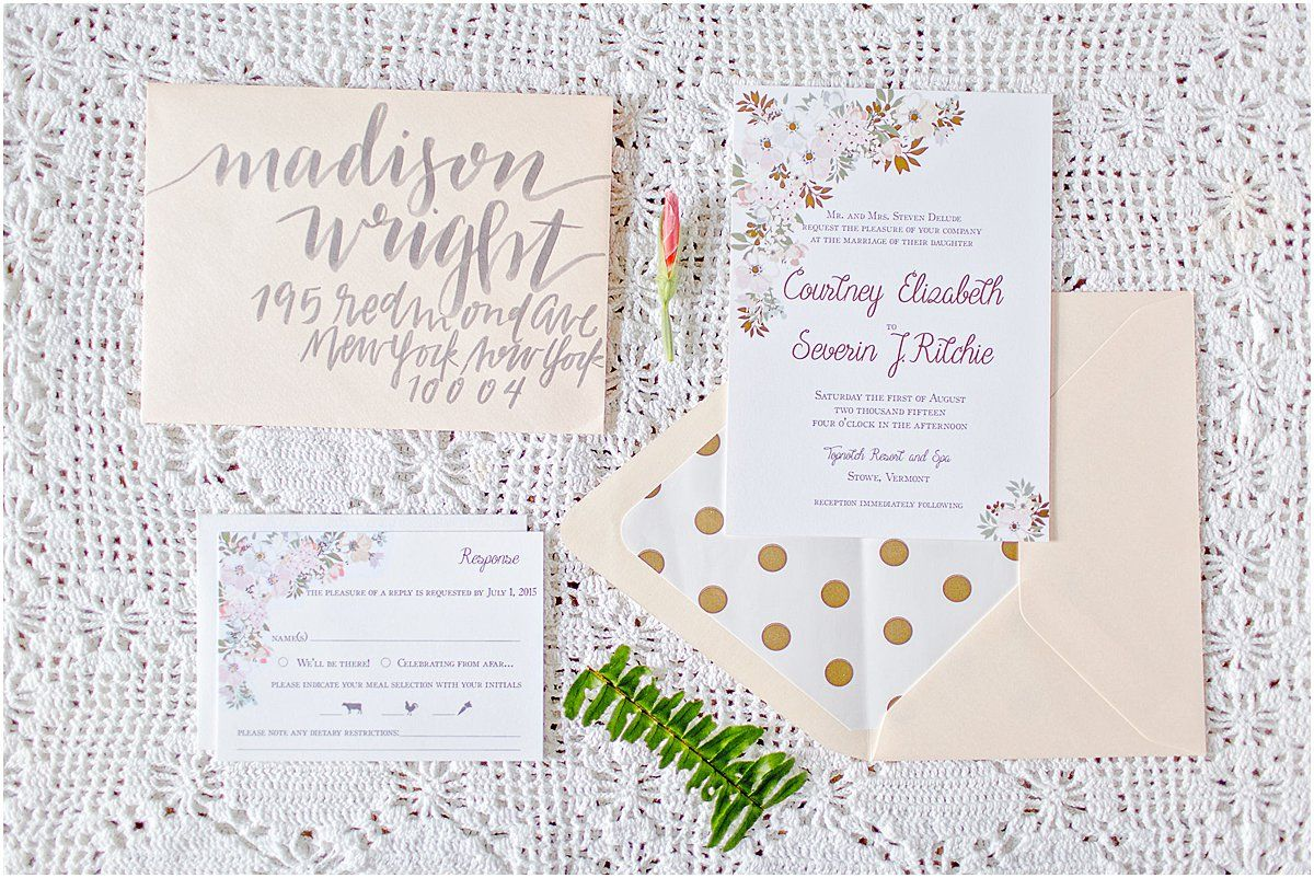 Gold Foil Wedding Invitation by Chirp Paperie_Kenneth Smith ...