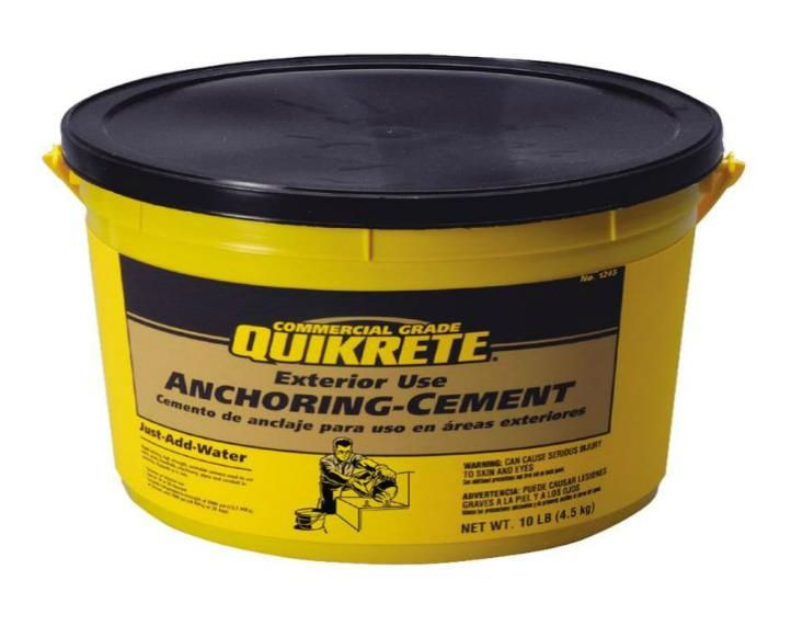Best Quikrete 124511 Anchoring Cement 10 Lbs Concrete Repair 400 x 300