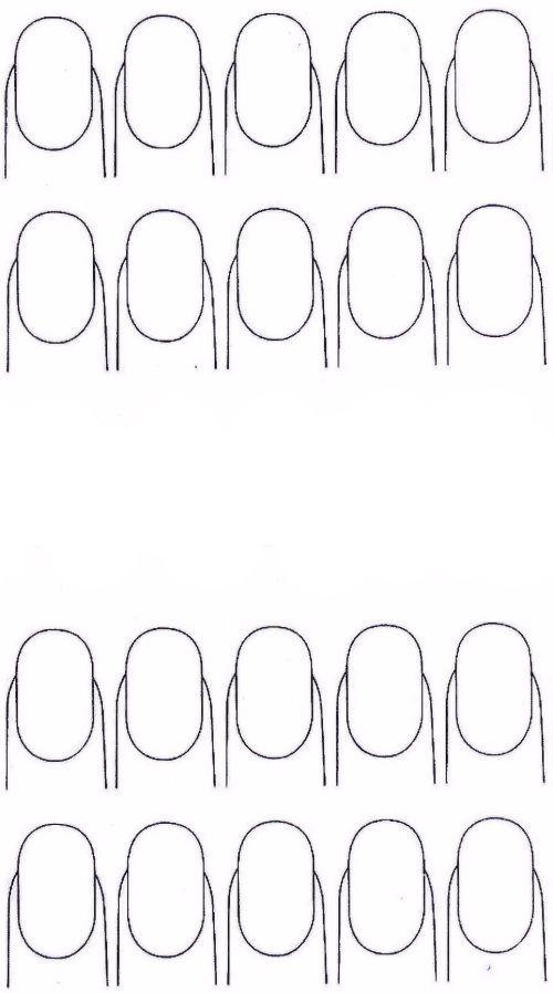 mod le ongles pour faire ses stickers d 39 ongles soit m me k rm k pinterest. Black Bedroom Furniture Sets. Home Design Ideas