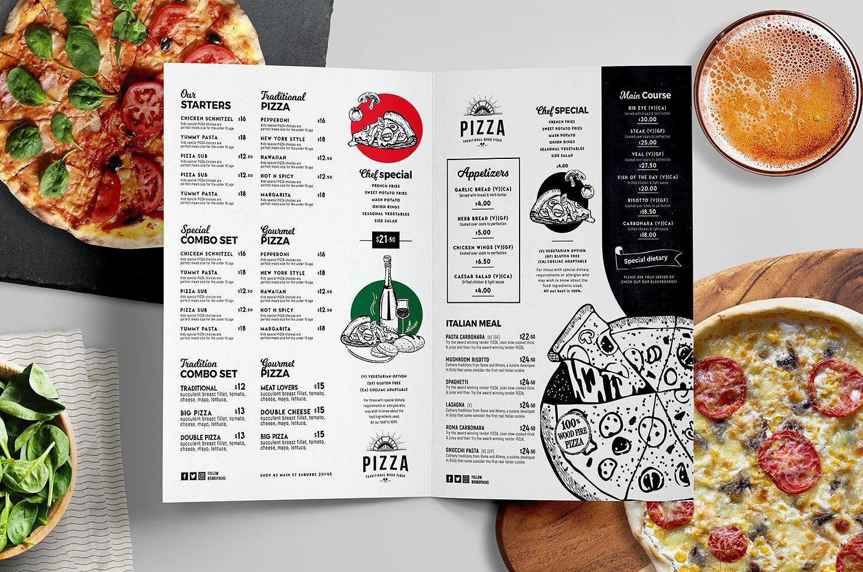 A4 Pizza Menu Templates