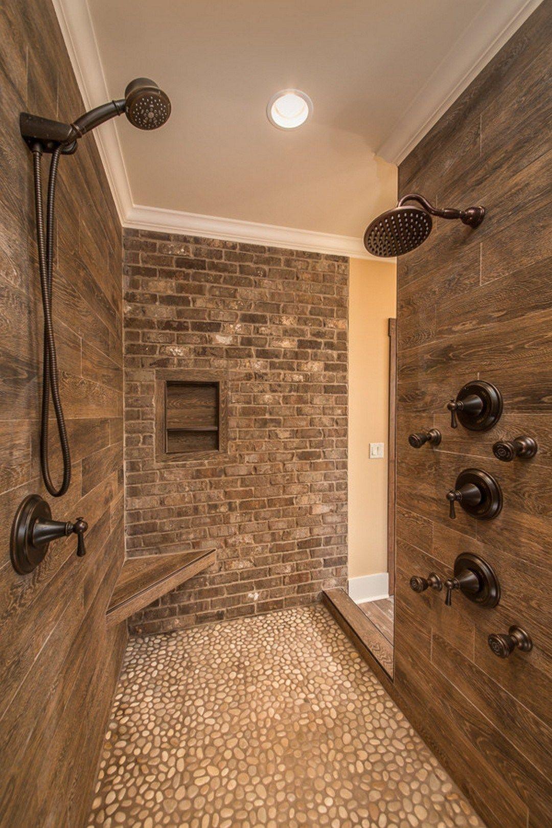 Gorgeous Farmhouse Master Bathroom Decorating Ideas 18 Home