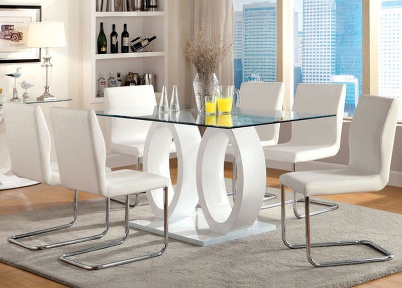 Olgette Contemporary High Gloss Modern Dining Table Contemporary