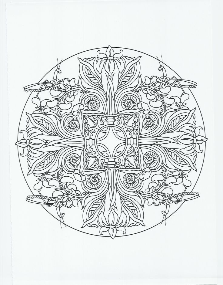 fancy mandala coloring pages - photo#6