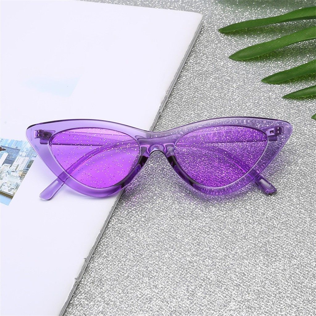 Feitong fashion cat eye womens sunglass fashion jelly