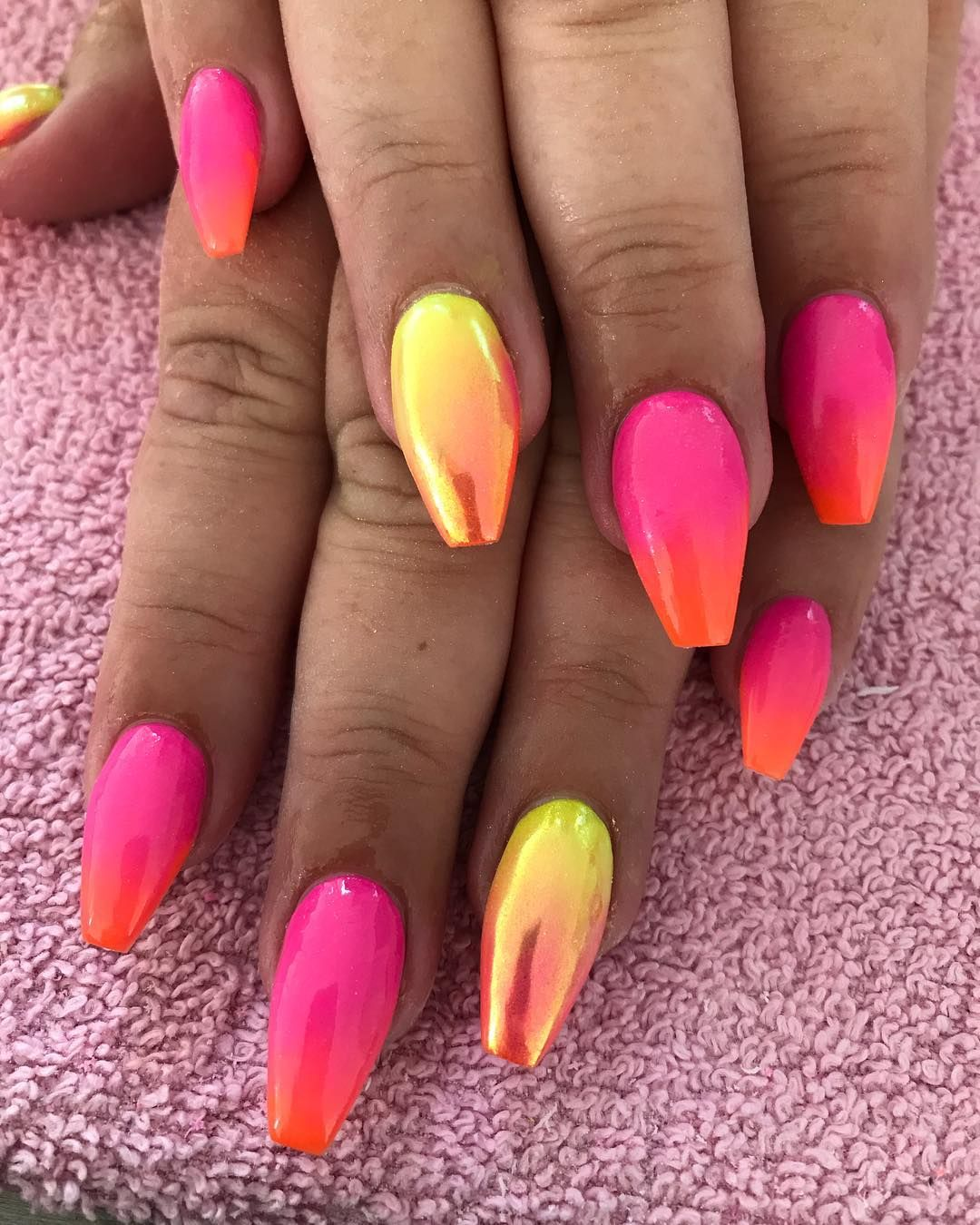 Nails Neon Nails Summer Acrylic Nails Yellow Nails