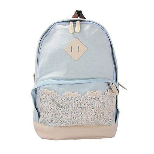 Womens Retro Cute Lace Denim Travel Campus School Book Bag Backpack (Light Blue) Hotportgift http://www.amazon.co.uk/dp/B00MWITUGI/ref=cm_sw_r_pi_dp_yp7Owb1HDS70T