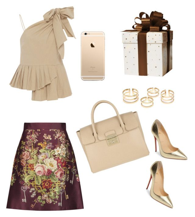 """I like it too much"" by alessandra-fly on Polyvore featuring moda, Sea, New York, Christian Louboutin, Dolce&Gabbana e Furla"