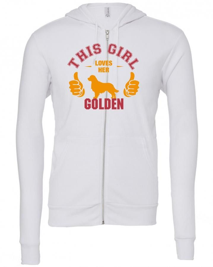 this girl loves her golden t shirt design Zipper Hoodie