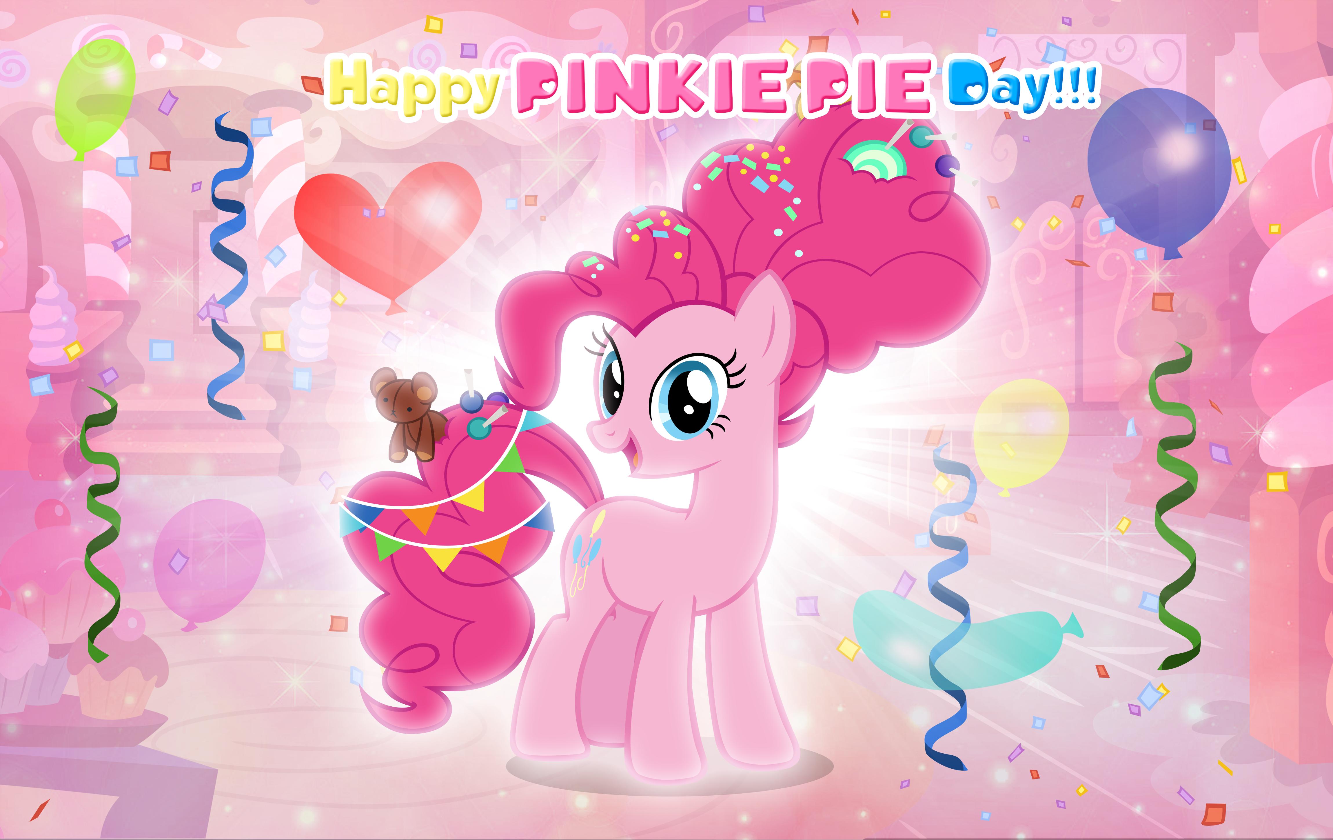 2460852 Safe Artist Andoanimalia Pinkie Pie Balloon Confetti Older Pinkie Pie Streamers Sugarcube Corner Derpiboo Pinkie Pie Pinkie World Smile Day