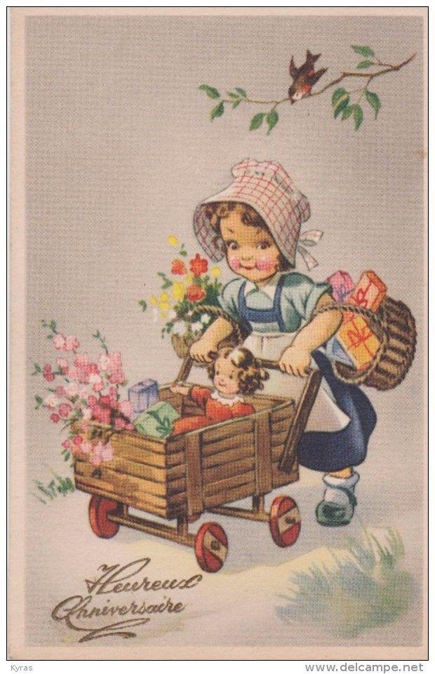 Delcampe Cartes Postales Anciennes : delcampe, cartes, postales, anciennes, Delcampe.fr, Cartes, Rétro,, Illustration, Bébé,, Enfants, Vintage