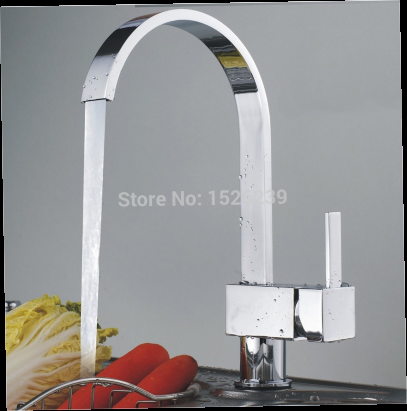 42.59$  Watch here - http://alig0x.worldwells.pw/go.php?t=32241844649 - Solid Brass Chrome Kitchen Tap Kitchen Mixer Single Hole Kitchen Faucet torneira cozinha 42.59$