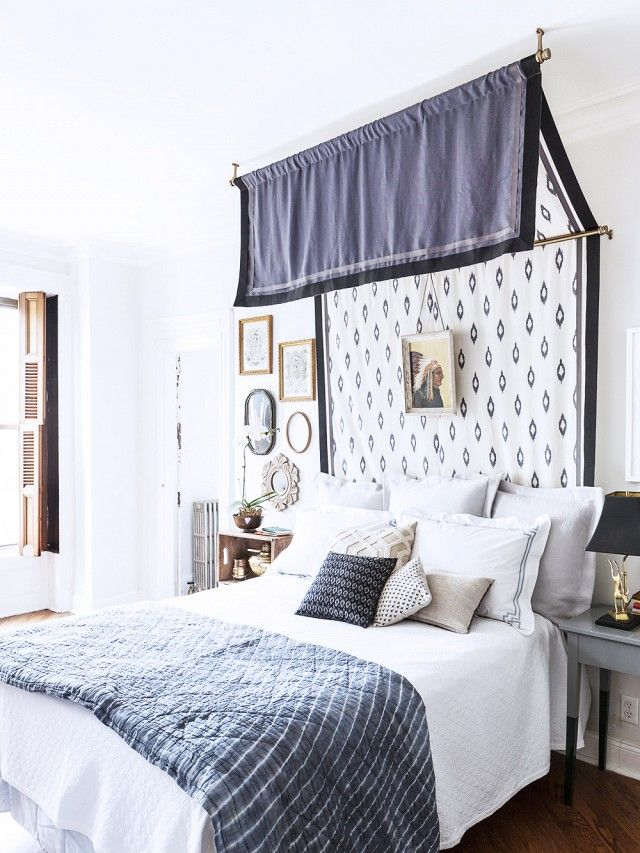 A canopy doesnu0027t necessarily need to hang over the whole bed but just & These Bedroom Canopies Look Straight Out of a Dream | Canopy ...