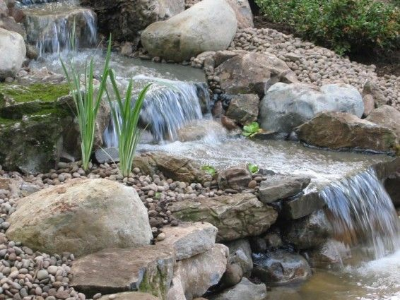 Edison nj pond and waterfalls a pond and waterfalls for Rock ponds designs