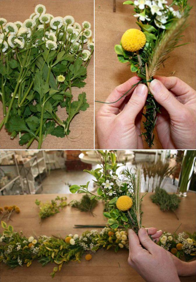 DIY Floral garland fresh flowers lasts 2 days (w/o