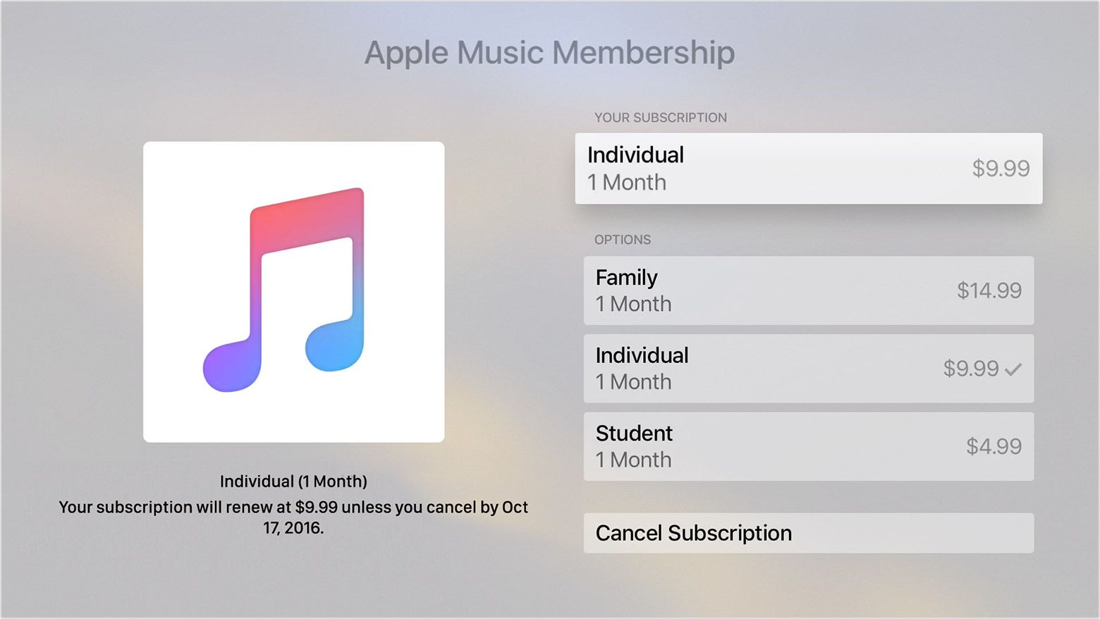 How to cancel a subscription from Apple Cancel