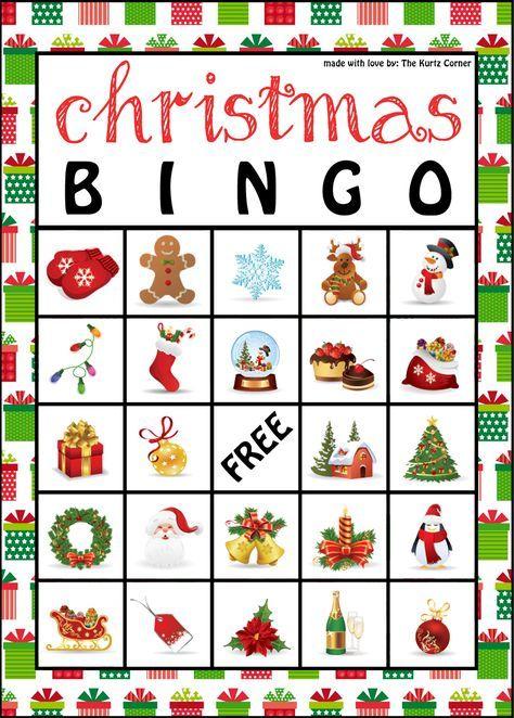 the kurtz corner free printable christmas bingo cards bingo printable pinterest christmas bingo free printable and free - Free Printable Christmas Bingo Cards