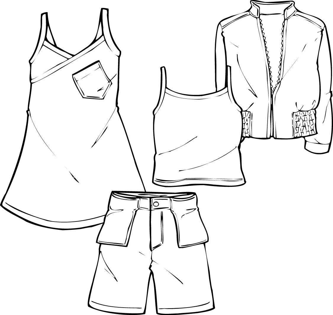 Croquis robe pour fille | Fashion croquis templates illustrator ...