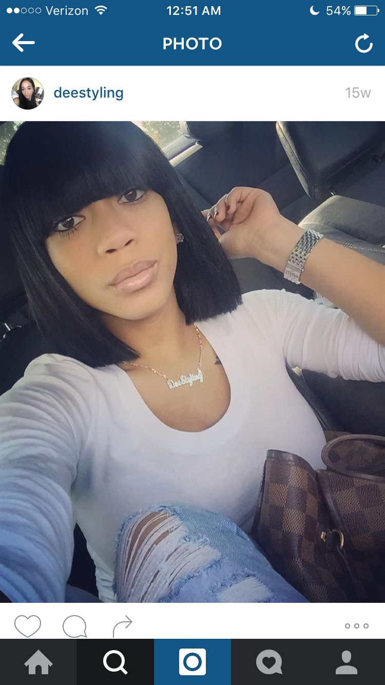 Bang Bob Full Weave Idea Hair Pinterest Full Weave Bangs And Bobs