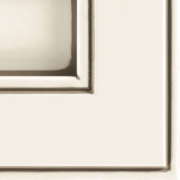 A Bright White Opaque Glazed Cabinet Finish Creating A Smooth, Clean Look,  Topped With